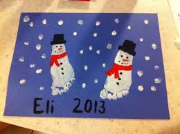 snowman foot print christmas toddler art christmas ideas
