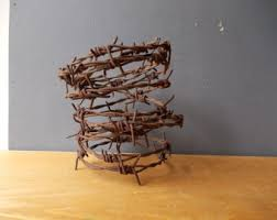 barbed wire etsy