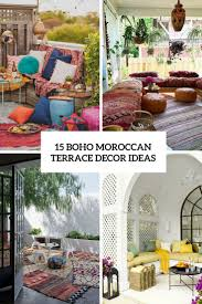 Moroccan Home Decor Ideas 15 Boho Moroccan Terrace Décor Ideas U2013 Home Info