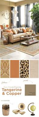 fall color pallette fall color palettes copper and tangerine how to decorate