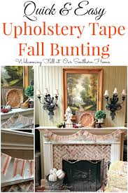 fall mantel and a craft project our southern home