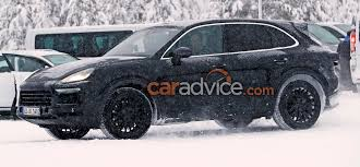 porsche winter 2018 porsche cayenne spied in winter testing update photos 1