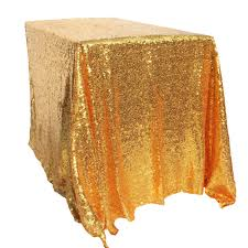 100x150cm gold sequin tablecloth rectangle style for wedding party