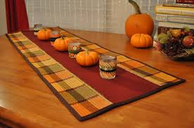 thanksgiving table runner coffee corduroy