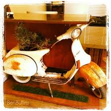 vespa scooter repurposed into mod office desk homejelly
