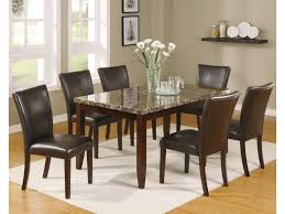 7 pc dining room set crown ferrara 7 dining table and chairs set dunk