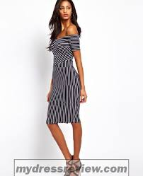 off the shoulder black and white striped dress u0026 clothing brand
