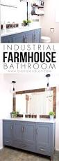 bathroom extraordinary industrial farmhouse bathroom reveal