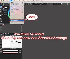 customizable shortcuts added medibang paint