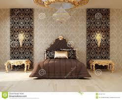 Luxury Bedroom Furniture Luxury Bedroom With Golden Furniture Royalty Free Stock