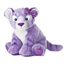 amazon com aurora world girlz nation purple tiger plush 12