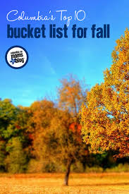top 10 bucket list for fall columbia sc moms blog