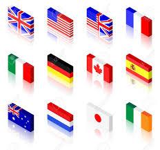 German British Flag 3d Flag Illustrations Uk America France Italy Germany Canada
