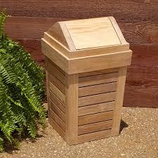 outdoor teak waste basket outdoor
