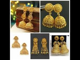 gold earrings jhumka design gold jhumkas designs gold earring designs