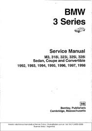 bmw 3 e36 series workshop manual bentley publishers