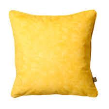 Stag Cushions Mottled Velvet Cushion Yellow Dwell