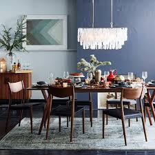 Tate Leather Dining Chair Black West Elm - West elm dining room chairs