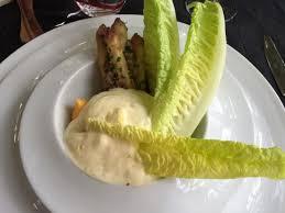 cuisine au siphon asperges rôties à crues au beurre mousseux sauce hollandaise au