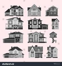 houses front face view vector illustration stock vector 601677200