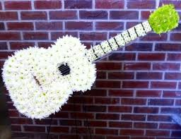 Funeral Flower Designs - 12 best guitars made of flowers images on pinterest sympathy