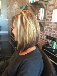 long bob hairstyles with low lights beautiful color and a long swing bob haircut dark underneath