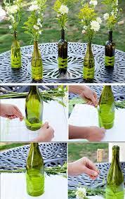 Diy Wine Bottle Vases 26 Diy Wedding Centerpieces On A Budget Craftriver