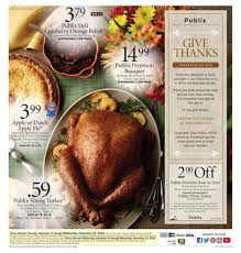 Thanksgiving Meal Deals Publix Weekly Ad October 11 17 2017