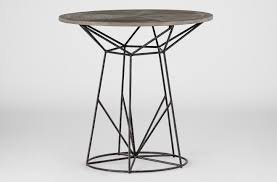 Wood Round End Table Wood And Wire Side Table Charlie Round End Table