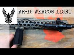 hunting lights for ar 15 mounting an ar 15 weapon light youtube