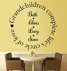 grandchildren complete the circle of love wall stickers decals grandchildren complete the circle of love wall stickers decals