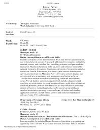 Sample Resume For Usajobs by Usajobs Resumes