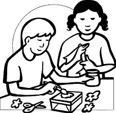 arts and crafts activity coloring page wecoloringpage