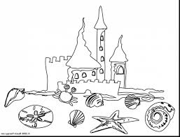 awesome sand castle coloring pages with beach coloring page