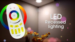 wifi led recessed lights genssi led recessed ceiling downlight flood light warm white rgb