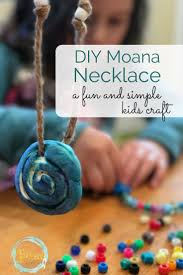 diy moana necklace for kids craft kid activities and craft