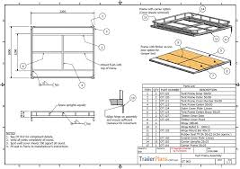 plans design off road cer trailer plans plans designs and drawings