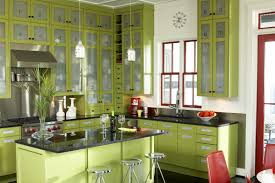 green kitchen cabinets love the style of this kitchen especially