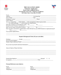 9 sample volunteer application forms free sample example format