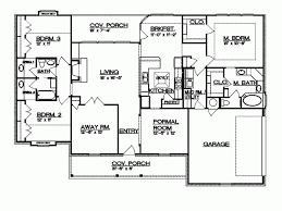 split house plans stunning design 3 country house plans with split bedrooms bedroom