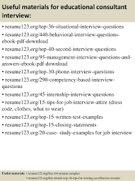 top 8 educational consultant resume samples