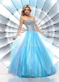 cheap light blue prom dress with sequins chest