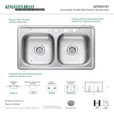 Stainless Steel Sink For Kitchen Stainless Steel Sink Kingston Brass