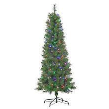 Fibre Optic Slim Christmas Trees - christmas trees sam u0027s club
