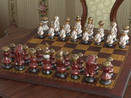 unusual chess sets unusual chess set by wizofboz yafaray