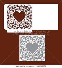 envelope border pattern wedding invitation lacy border laser cut stock vector 1036218067