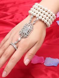pearl fashion bracelet images Silver 1920s pearl flapper bracelet retro stage chic vintage jpg