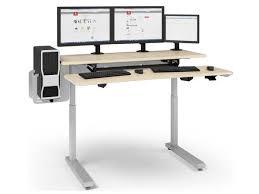 Anthro Sit Stand Desk Anthro Elevate Adjusta Sit Stand Desk 60 Inches Maple Mvjb60ss