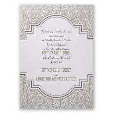 deco wedding program deco frame letterpress invitation invitations by