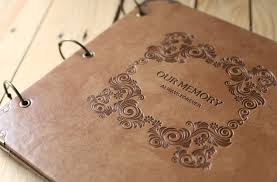 Large Leather Photo Albums Top Grade Handmade Pu Leather Cover Photo Album Vintage Embossing